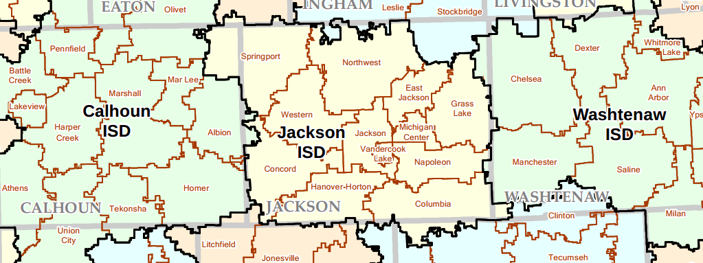 Jackson MI School District map